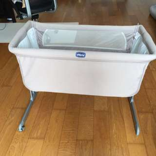 99% new Chicco bedside crib for sales