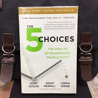 # Highly Recommended《New Book Condition + How To Increasing Personal Effectiveness And Productivity In New World》Kory Kogon + Adam Merril + Leena Rinne - THE 5 CHOICES : The Path to Extraordinary Productivity