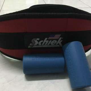 Schiek Lifting Belt And Fat Gripz