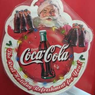 絕版(非賣品)可樂 可口可樂 聖誕老人吊牌