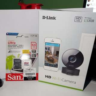 D-Link HD Wi-Fi Camera + SanDisk 64GB