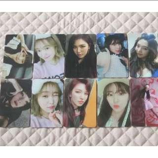 [All taken | SHARE] Red Velvet The Perfect Red Velvet Bad Boy Official Photocards Set
