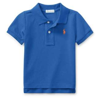 RALPH LAUREN Baby Boy Polo Shirt Barclay Blue 24M RL Polo Shirt Blue