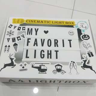 Light box DIY A4 size,  free extra one set of alphabets