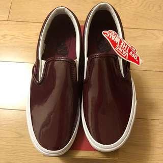 VANS Classic Slip-On 漆皮酒紅色36.5號(US 6.5)