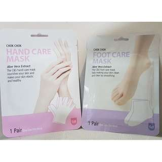 Chok Chok Hand & Foot Care Masks (Buy 4 masks at S$13.50 and Get 1 Mask Free - Left 4 Sets Available)