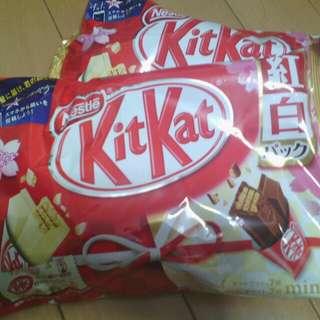 White Chocolate & original KITKAT