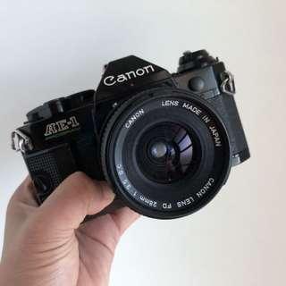 Canon AE-1 program black 28mm 3.5 sc