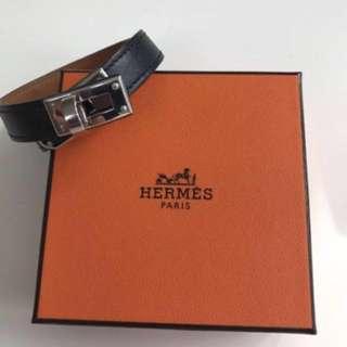 全場最平!HERMES Kelly Double Tour Leather Bracelet