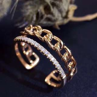 18K 黃金鑽石戒指