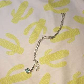 Musical Note Necklace from Comic Alley