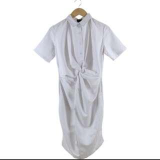 (new) Ats White Wrap Midi Dress