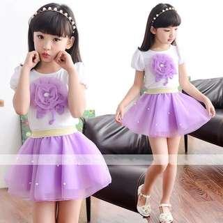 Girl Top+Skirt Set