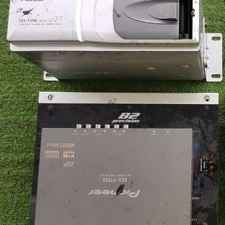 2 x Helix B2 Precision 2-channel Amp, 1 x Pioneer DEQ P7650 multi channel processor (with controller display) and 1 x 12 Disc Multi CD player (Price Negotiable)