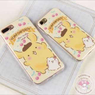 iphone7/7plus 樱桃布丁狗🐶透明手機软壳(包郵)