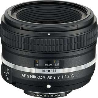 [NEGOTIABLE] AF-S NIKKOR 50mm f/1.8G (Silver Edition)
