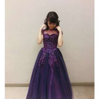 Violet long prom gown (for RENT)
