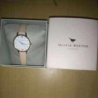 Olivia Burton White Dial Midi Dial Nude Peach & Rose Gold