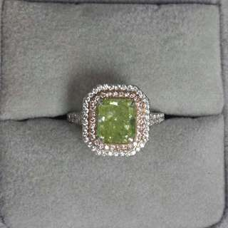 Fancy Color Diamond Ring GIA Certified