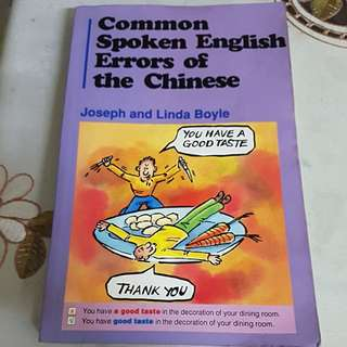 Common Spoken English Errors of the Chinese