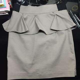 peplum bodycon skirt