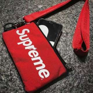 Supreme cloth pouch lanyanrd