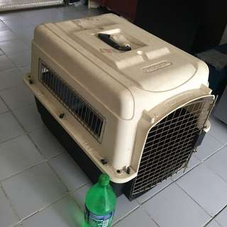 """Petmate crate pet carrier airline approved fit Beagle medium size dog 28""""L by 20.5""""W by 21.5""""H"""