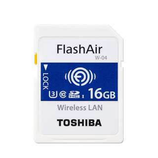 [新版] W-04 東芝 TOSHIBA FlashAir 16GB WIFI 無線 記憶卡 日本製