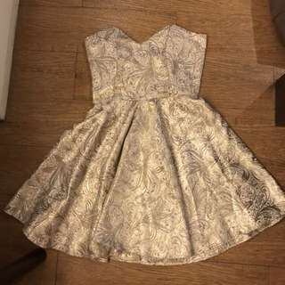 Cocktail Dress Gold From Style Staple