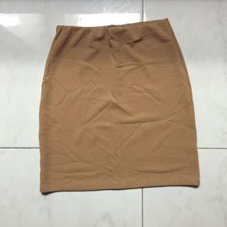 brown bodycon skirt