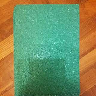 Emerald sparkly foam (4 pc)