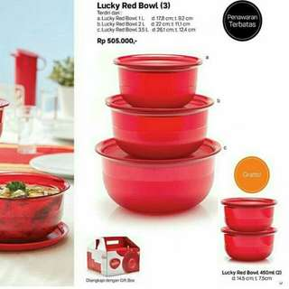 Lucky red bowl