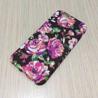 iPhone TPU Silicon Case 6/6s in Black Floral