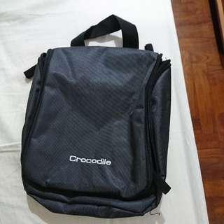 Crocodile toiletries travel bag