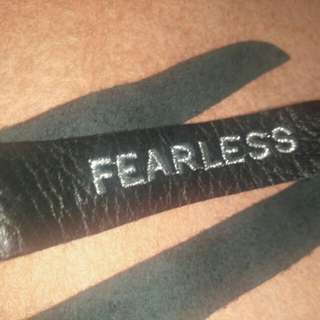 Taylor Swift FEARLESS Leather Bracelet Authentic from Taylor Swift's Official Store in US