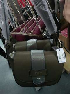 Guess Dark Green Sling Bag