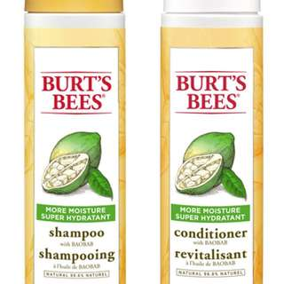 Burt's Bees shampoo and conditionner