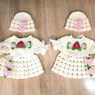 Crochet girls dress set