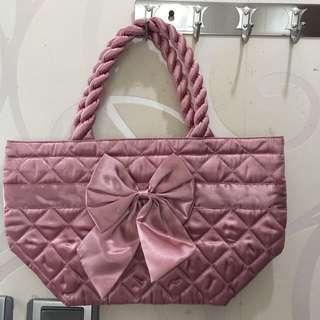 NaRaYa 粉紅色小袋 飯袋