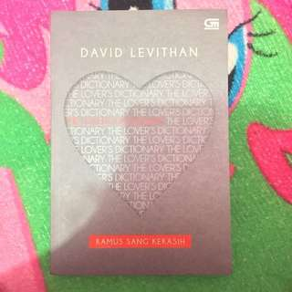 The Lover's Dictionary (David Levithan)