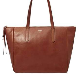 Fossil Brown Tote Bag