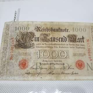 1910 old note