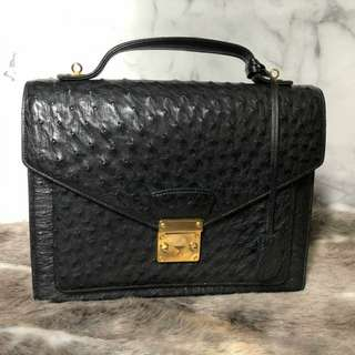 Real Ostrich Leather LV metis Inspired Bag