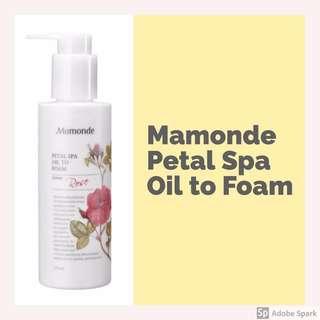 Mamonde Petal Spa Oil to Foam