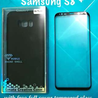 Samsung S8+ with free full cover tempered glass