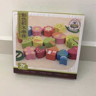 Kids Toy Wooden Blocks - Colored