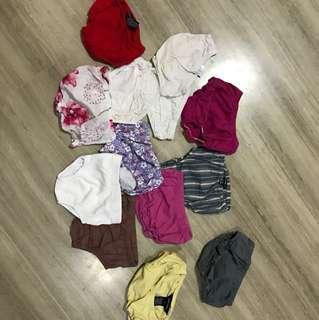 Baby underwear (worn with diaper) 3-6 months, Ralph Lauren, Tommy Hilfiger, GAP, etc
