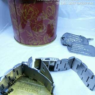 Rantai jam tangan solid metal