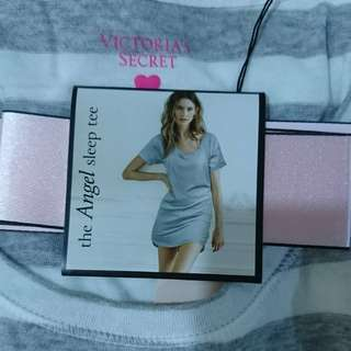 Striped Victoria Secret Sleeping Tee