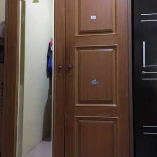 Lemari baju jati 2 pintu